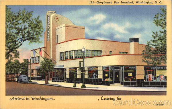 Greyhound Bus Terminal Washington District of Columbia
