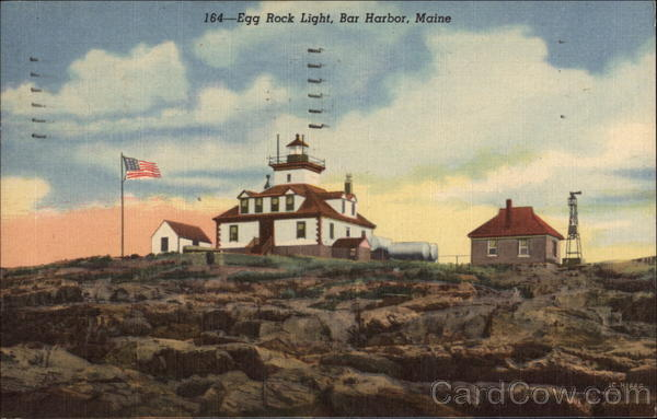 Egg Rock Light Bar Harbor Maine