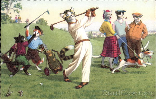 Cats Playing Golf