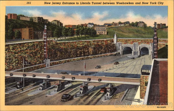 New Jersey Entrance To Lincoln Tunnel Weehawken Nj