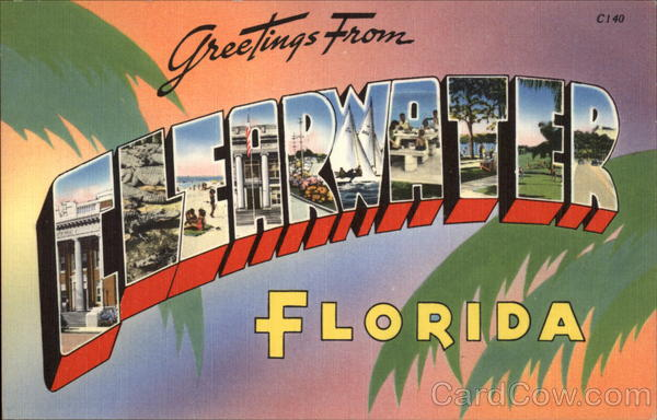 Greetings from Clearwater, Florida Large Letter