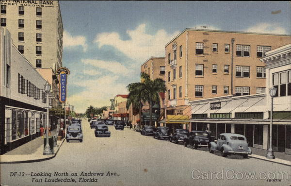Looking North on Andrews Avenue Fort Lauderdale Florida