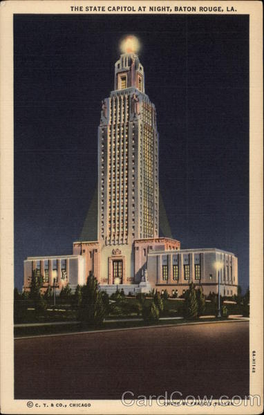 The State Capitol at Night Baton Rouge Louisiana