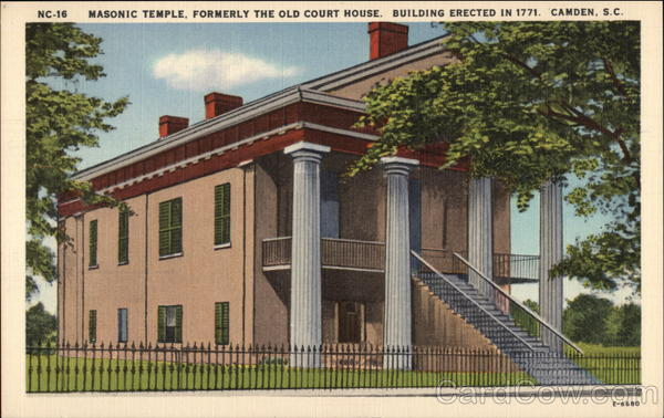 Masonic Temple, Formerly the Old Court House Camden South Carolina