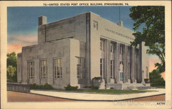 Stroudsburg (PA) United States  city images : United States Post Office Building Stroudsburg Pennsylvania