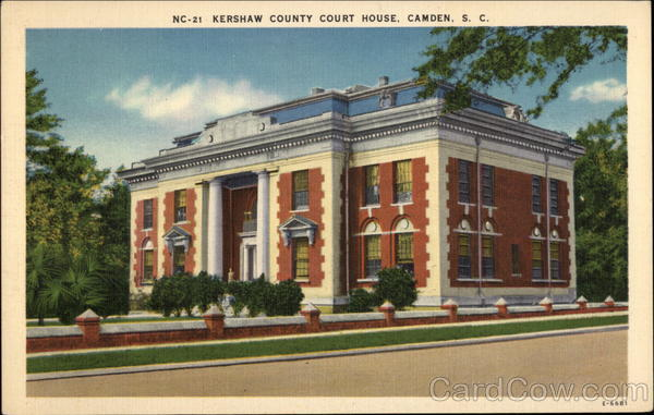 Kershaw County Court House Camden South Carolina