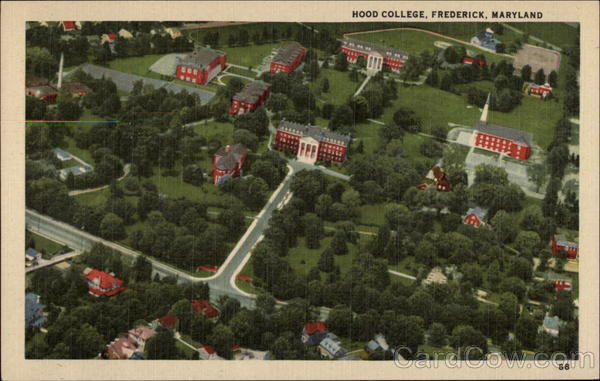Aerial View of Hood College Frederick Maryland