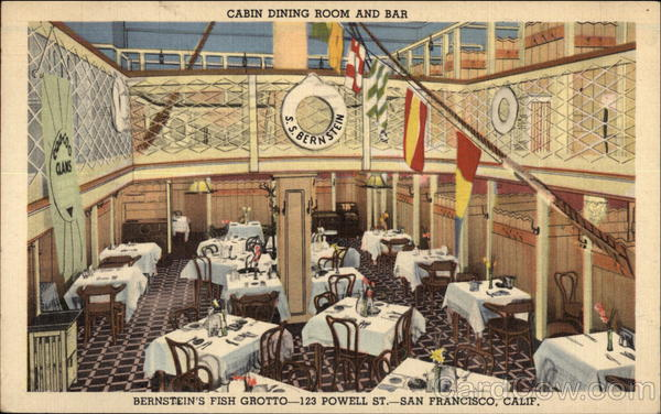 Bernstein's Fish Grotto - Cabin Dining Room and Bar San Francisco California