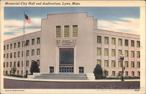 Memorial City Hall and Auditorium Lynn Massachusetts