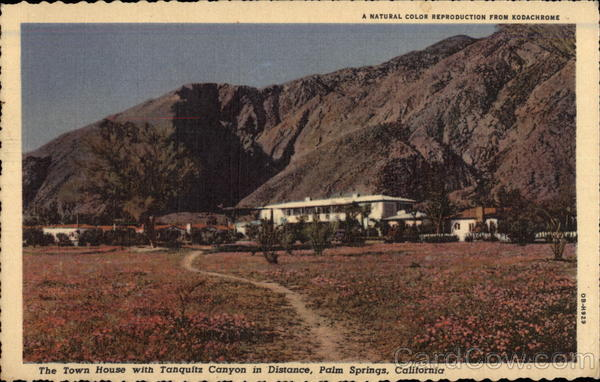 The Town House with Tanquitz Canyon in Distance Palm Springs California