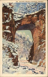 Natural Bridge in Winter, Virginia
