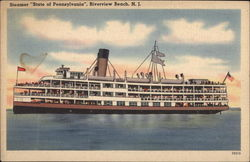 "Steamer ""State of Pennsylvania"", Riverview Beach"