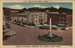 Confederate Monument and Caldwell County House