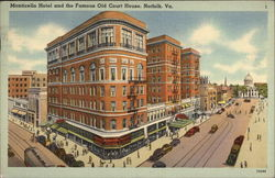 Monticello Hotel and Old Court House Postcard