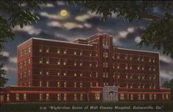 Night-time Scene of Hall County Hospital