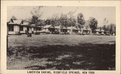 Lakeview Cabins Postcard