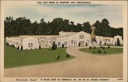 Hacienda Motel Postcard