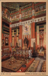 Interior of Chinese Lama Temple Postcard