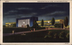 Administration Building by Night Postcard