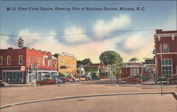 View from Square, Showing Part of Business Section Postcard
