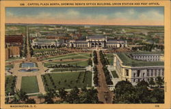 Capitol Plaza North, Showing Senate Office Building, Union Station & Post Office