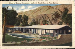 Home of George Montgomery and wife Dinah Shore