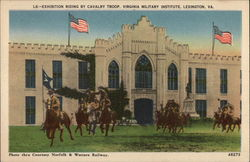 Exhibition Riding by Cavalry Troop, Virginia Military Institute