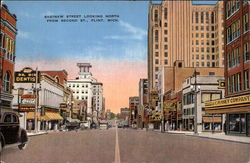 Saginaw Street, Looking North from Second Street