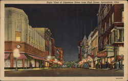 Night View of Limestone Street from High Street