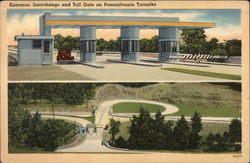 Entrance, Interchange and Toll Gate on Pennsylvania Turnpike