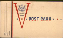 United States Army Post Card
