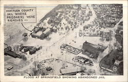 Flood at Springfield Showing Abandoned Jail