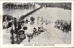 Chicopee Bridge Under Water