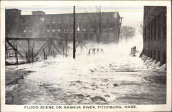 Flood Scene on Nashua RIver