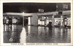 Flood Scene, Business District