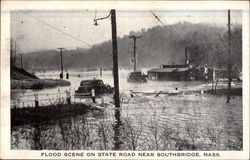 Flood Scene on State Road