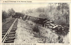 A Mass of Wreckage of the Montreal Express
