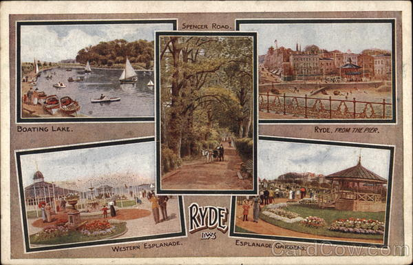 Various Views of Town - Isle of Wight Ryde England