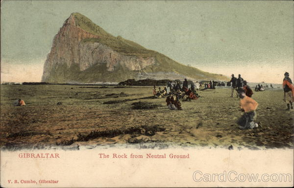 The Rock from Neutral Ground Gibraltar Spain, Portugal