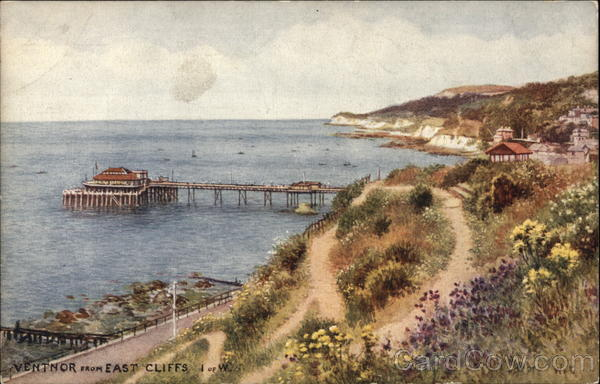 Ventnor from East Cliffs, Isle of Wight Ventnor City United Kingdom