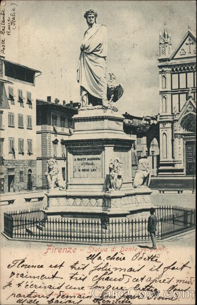 Statue of Dante Florence Italy