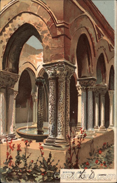 Cloisters of the Abbey Monreale Italy