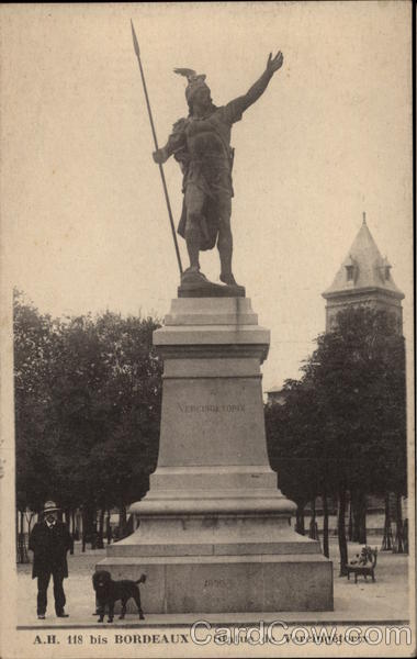 Statue of Vercingetorix Bordeaux France