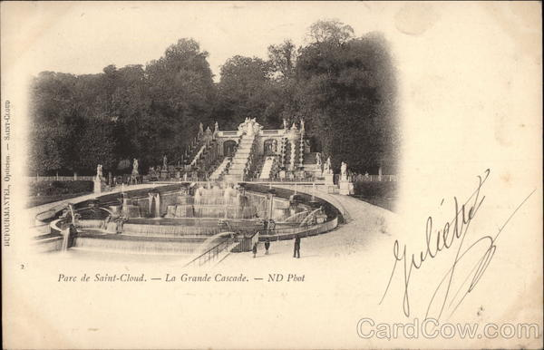 Parc de Saint-Cloud - La Grande Cascade France