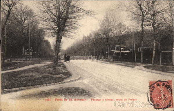 Level Crossing on the Poissy Road - Foret de Saint-Germain France