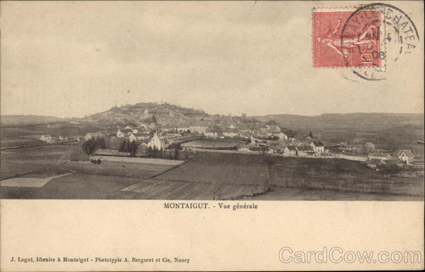 View of Town Montaigut France