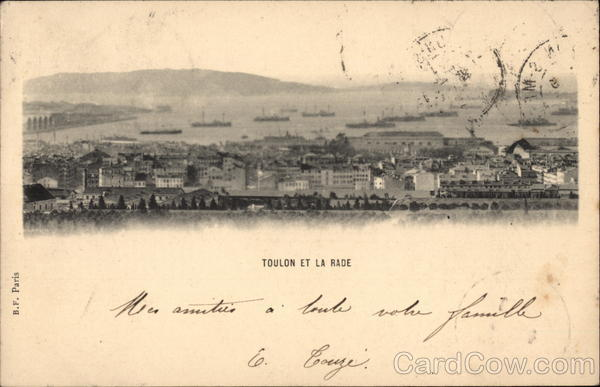 Toulon et la rade France