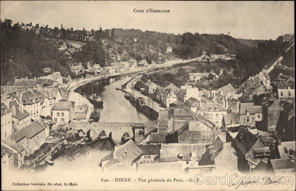 View of Port and Town Dinan France