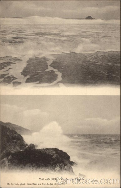 Stormy Seas Val-Andre France