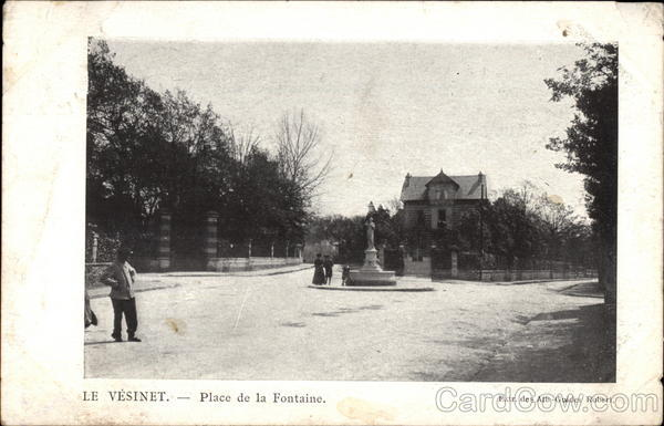 Place de la Fontaine Le Vésinet France
